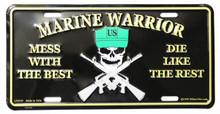 Marine Warrior License Plate