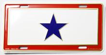Service Flag License Plate