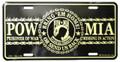 Gold POW MIA License Plate