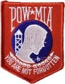 Red White and Blue POW MIA Patch