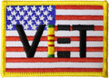 Vietnam Veteran Flag Patch
