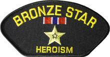 Bronze Star Hat Patch