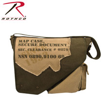 Military Style Vintage Canvas Map Bag