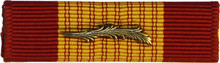 Gallantry Cross Ribbon with Palm