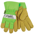 Kinco Safety Green Lined Pigskin Leather Palm Gloves