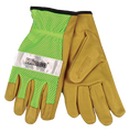 Kinco Safety Green Mesh Back Pigskin Leather Driver Glove