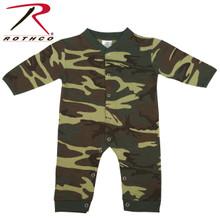 Rothco Infant Camo Long Sleeve and Leg Onesie Woodland