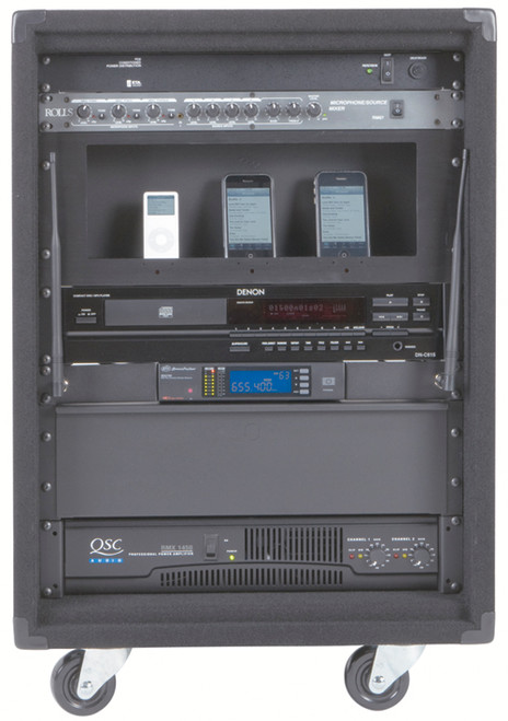 Carpeted Audio Component Racks