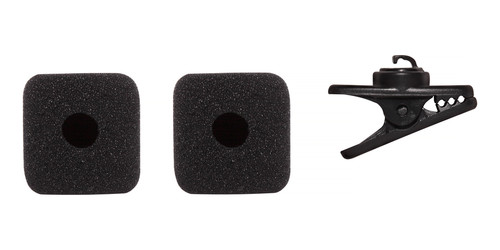 Shure RK379 for Shure SM31 & PGA31 -  2 black windscreens and a clothing clip