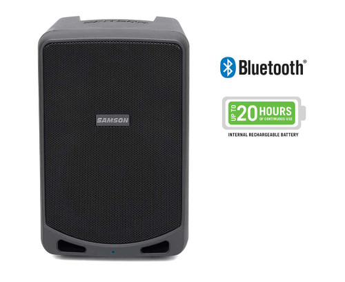 Samson  Expedition XP106 - Rechargeable Portable PA with Bluetooth and Handheld Microphone with Cable