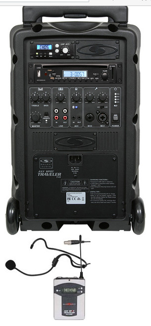 Galaxy TV8-C010S000K9 -  Basic System + CD Player + 1 Fitness Headset Wireless Microphone System