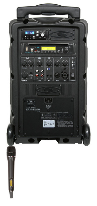 Galaxy Audio GAL08HH1CD TV8 AC/Battery-Powered 120 Watt Portable Sound System - Basic System + CD + 1 Handheld System