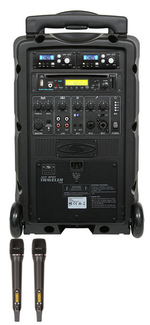 Galaxy Audio GAL08HH2CD TV8 AC/Battery-Powered 120 Watt Portable Sound System - Basic System + CD + 2 Handheld Systems