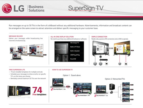LG SuperSign Digital Displays with Editor