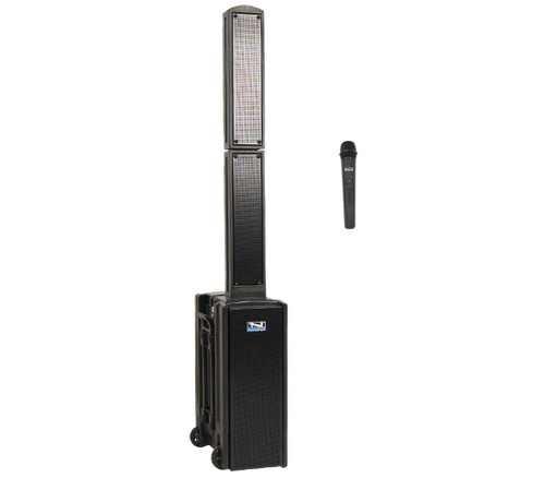 BEA-SINGLE - Anchor BEACON 2 Portable Sound System with 1 Wireless Systems - Handheld Mics and/or Headband and Lapel Mics with Beltpack Transmitters - shown with 1 Handheld Wireless and/or Headset + Beltpacks
