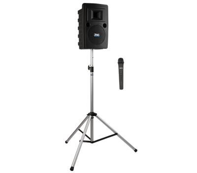 Anchor Audio Liberty LIB2-BP1 - BASIC Package 1: LIB2-XU2, SS-550 stand, and choice of 1 wireless handheld mic or headband and lapel mic with 1 beltpack