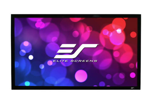 Elite Screens R110WH2 ezFrame 2 Series Fixed Frame Projector Screens.  2 year limited warranty by Elite Screens.
