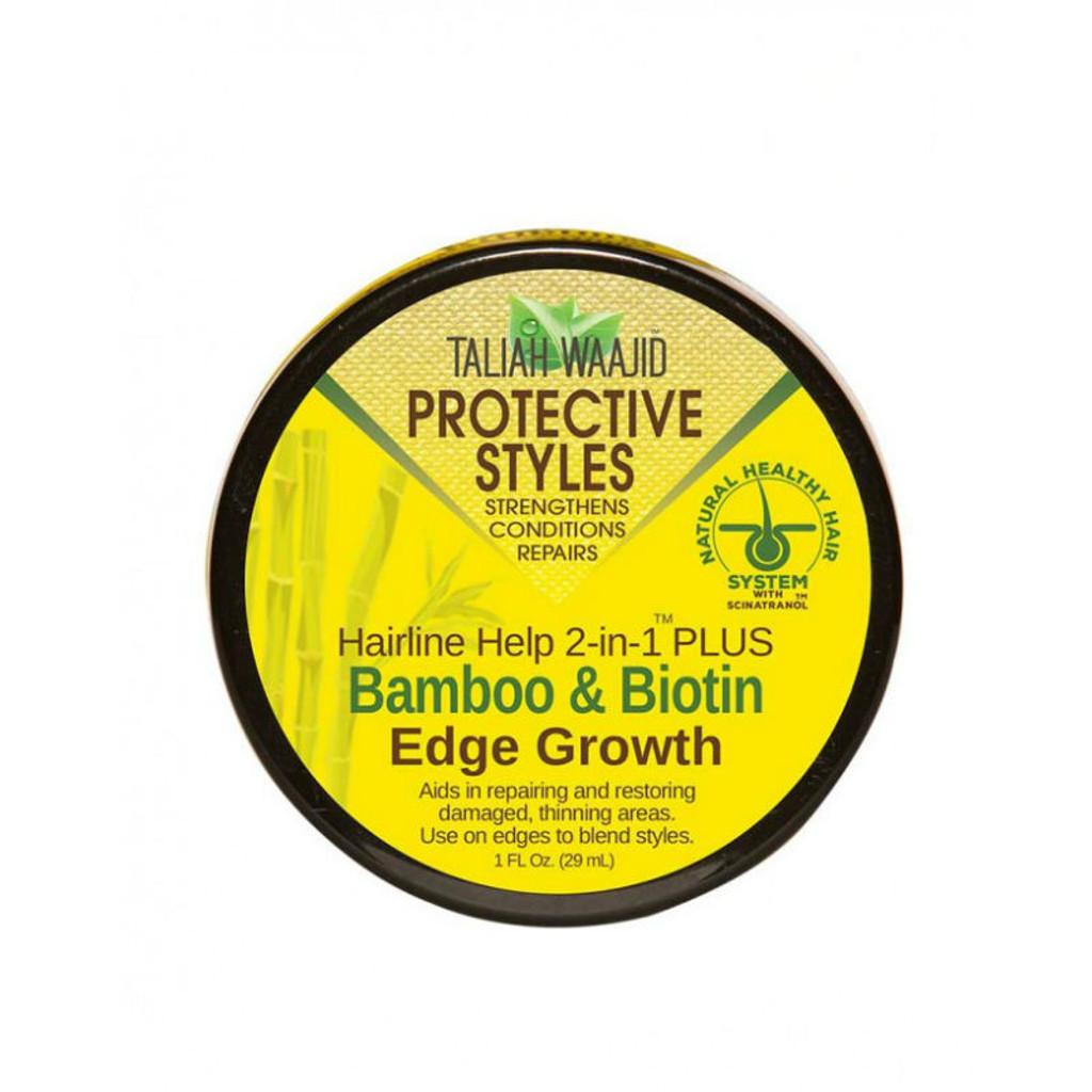 Taliah Waajid Protective Styles Hairline Help 2-in-1 Plus Bamboo & Biotin Edge Grow (1 oz.)