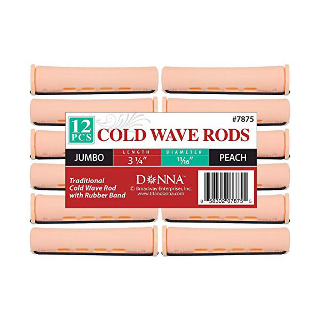 """Donna Cold Wave Jumbo Rods 11/16"""" - Peach (12 ct.)"""