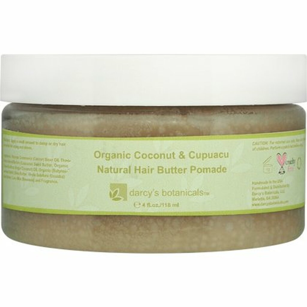 Darcy's Botanicals Organic Coconut & Cupuacu Natural Hair Butter Pomade (4 oz.)