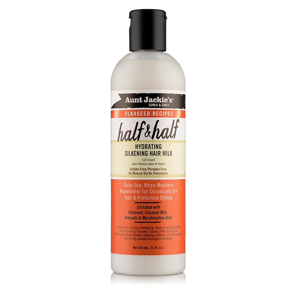 Aunt Jackie's Curls & Coils Flaxseed Recipes Half & Half Hydrating Silkening Hair Milk (12 oz.)