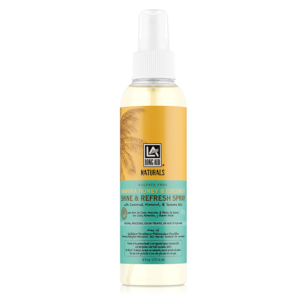 Long Aid Naturals Manuka Honey & Coconut Shine & Refresh Spray (6 oz.)