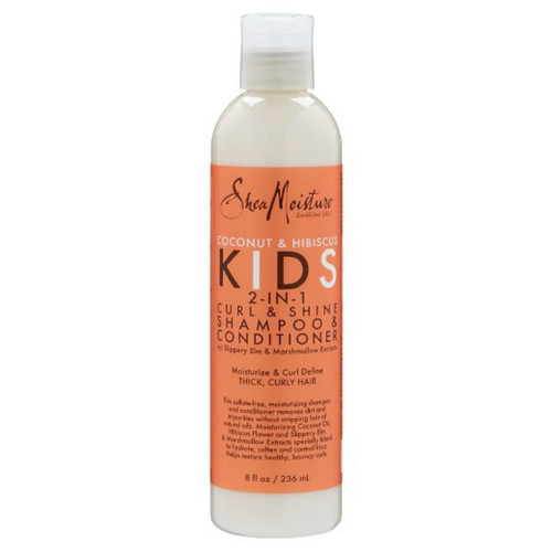 SheaMoisture Coconut and Hibiscus Kids 2-in-1 Curl and Shine Shampoo and Conditioner (8 oz.)