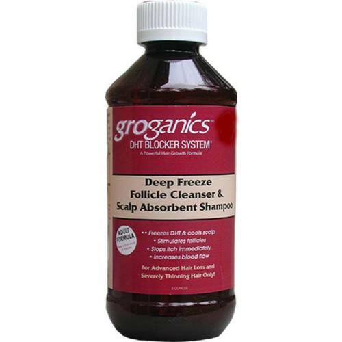 Groganics DHT Blocker System Deep Freeze Follicle Cleanser & Scalp Absorbent Shampoo (8 oz.)