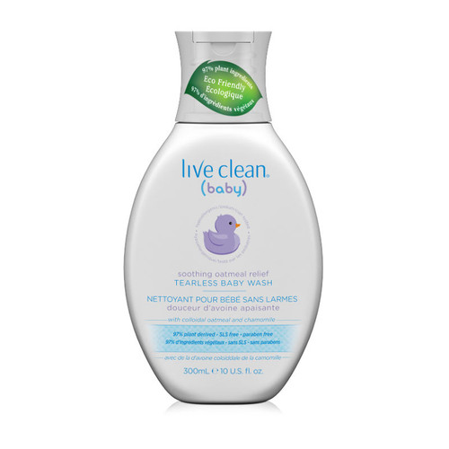 Live Clean Baby Soothing Oatmeal Relief Tearless Baby Wash (10 oz.)