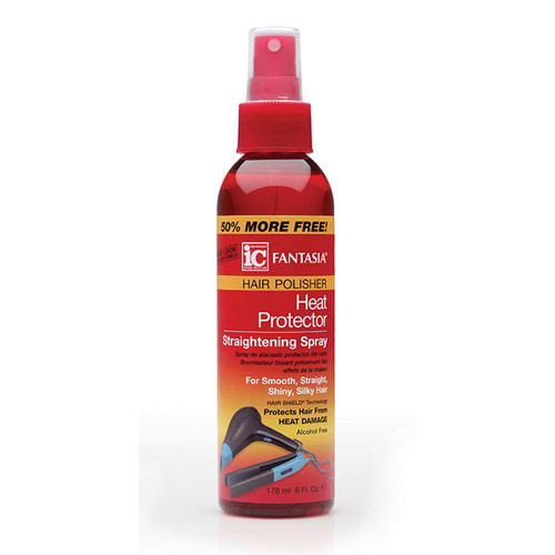 Fantasia IC Hair Polisher: Heat Protector Straightening Spray (6 oz.)