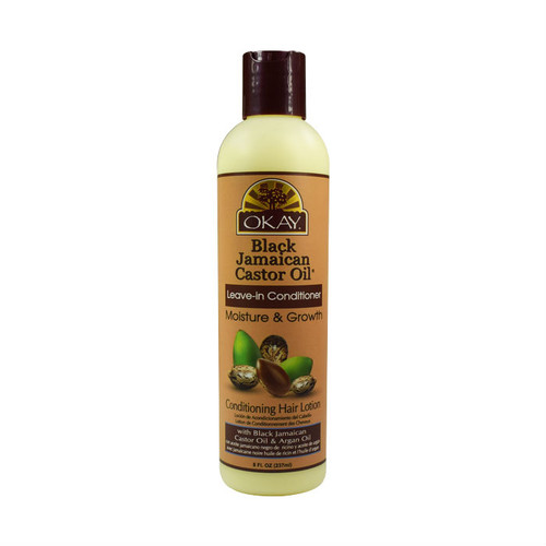 OKAY Pure Naturals Black Jamaican Castor Oil Leave-In Conditioner Moisture and Growth (8 oz.)