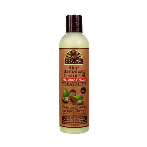 OKAY Pure Naturals Black Jamaican Castor Oil Moisture Growth Treatment (8 oz.)