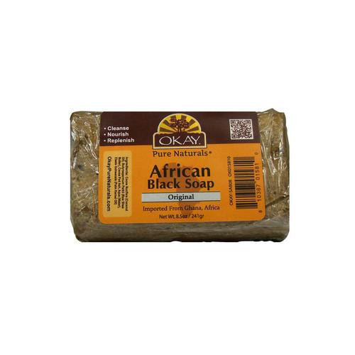 OKAY Pure Naturals African Black Soap Original (8.5 oz.)