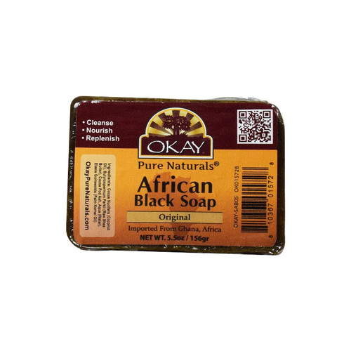 OKAY Pure Naturals African Black Soap Original (5.5 oz.)