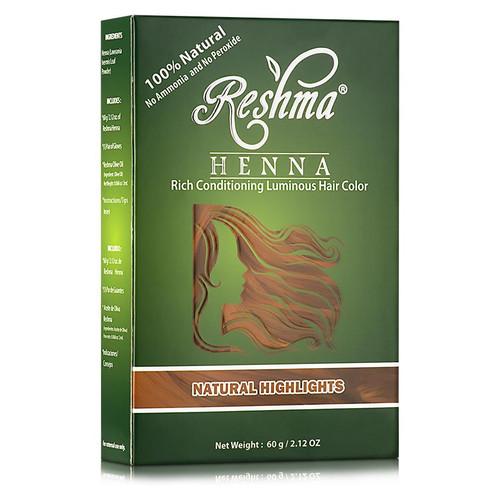 Reshma Beauty Henna Powder Rich Conditioning Luminous Hair Color - Natural Highlights (2.12 oz.)