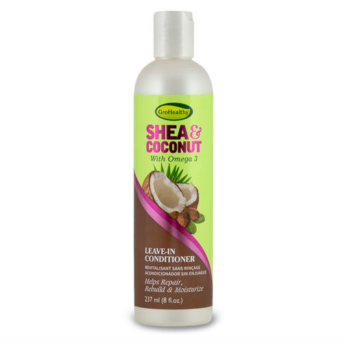 GroHealthy Shea & Coconut Leave In Conditioner (8 oz.)