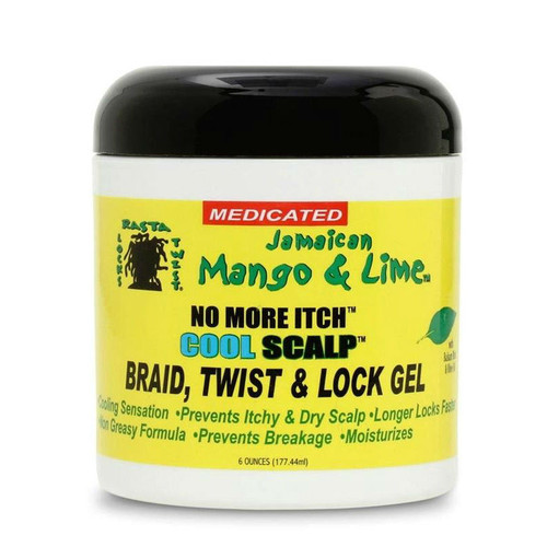 Jamaican Mango & Lime No More Itch Cool Scalp Braid, Twist, & Loc Gel (6 oz.)