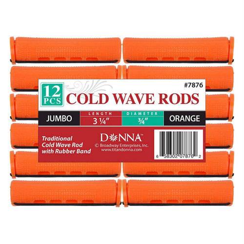 "Donna Cold Wave Jumbo Rods 3/4"" - Orange (12 ct.)"