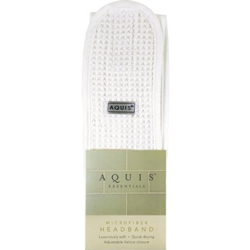Aquis Essentials White Microfiber Headband