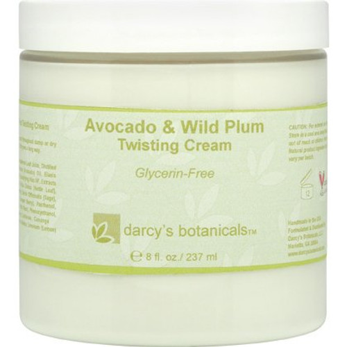 Darcy's Botanicals Avocado & Wild Plum Twisting Cream - Glycerin Free (8 oz.)