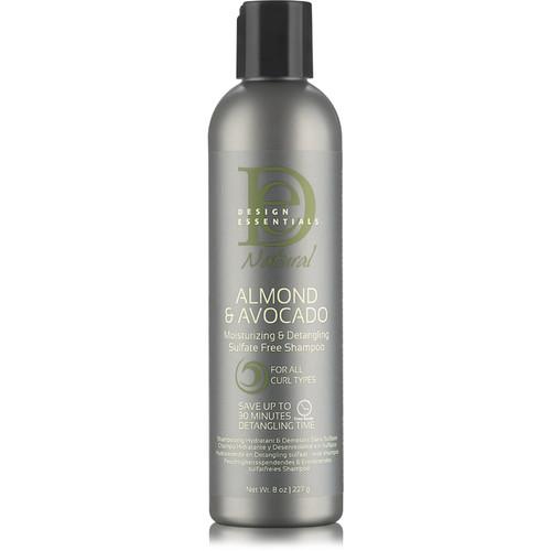 Design Essentials Natural Almond & Avocado Moisturizing & Detangling Sulfate Free Shampoo (8 oz.)