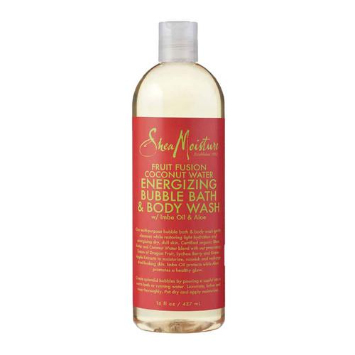 SheaMoisture Fruit Fusion Coconut Water Energizing Bubble Bath & Body Wash (16 oz.)
