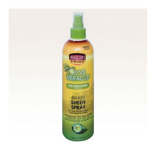 Review: African Pride Olive Miracle Braid Sheen Spray (12 oz.)