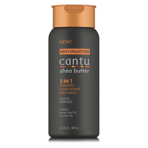 Cantu Men 3 in 1 Shampoo, Conditioner, & Body Wash (13.5 oz.)