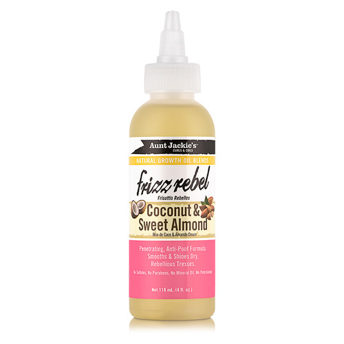 Aunt Jackie's Frizz Rebel Coconut & Sweet Almond Natural Growth Oil (4 oz.)