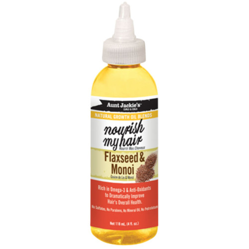 Aunt Jackie's Nourish My Hair Flaxseed & Monoi Natural Growth Oil (4 oz.)