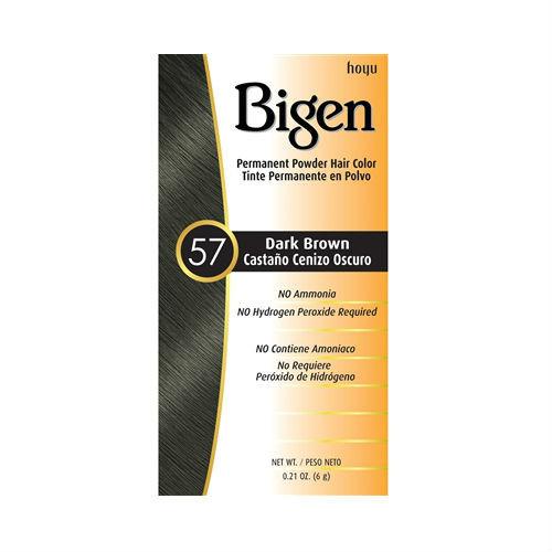 Bigen #57 Dark Brown Permanent Powder Hair Color (0.21 oz.)