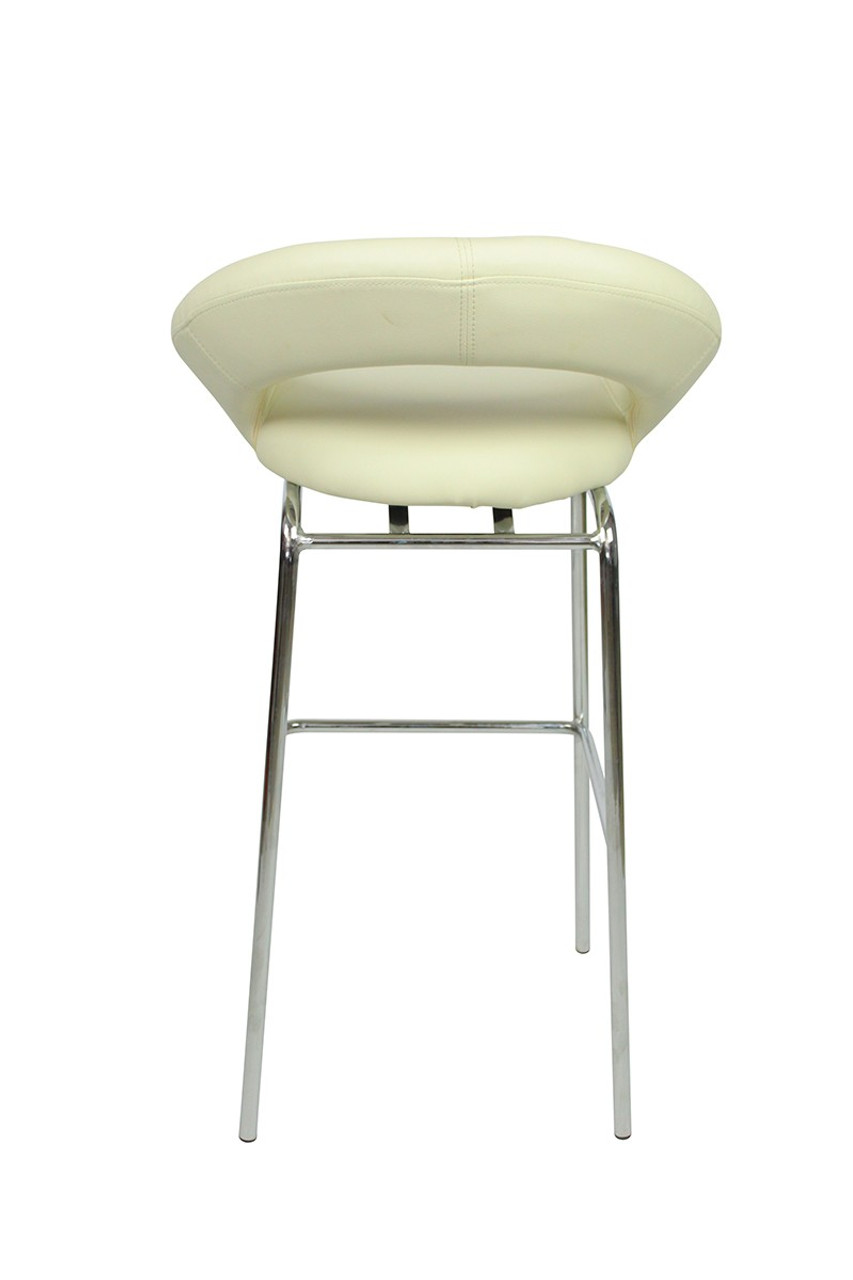 Sorrento Kitchen Fixed Height Bar Stools Cream Simply