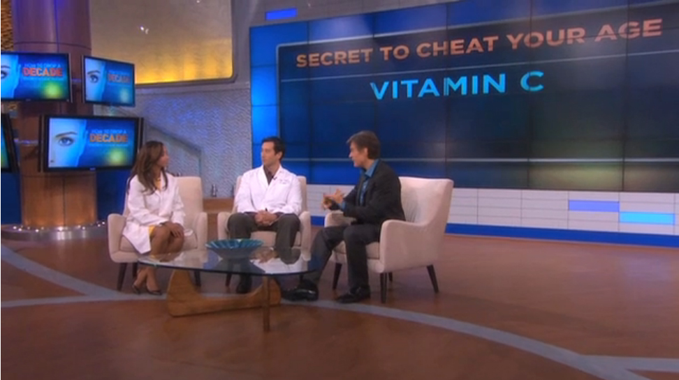 Dr. Oz talking about how to have youthful skin
