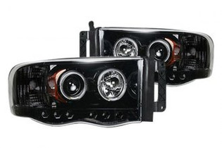 RECON SMOKED PROJECTOR HEADLIGHTS (03-05 DODGE RAM)